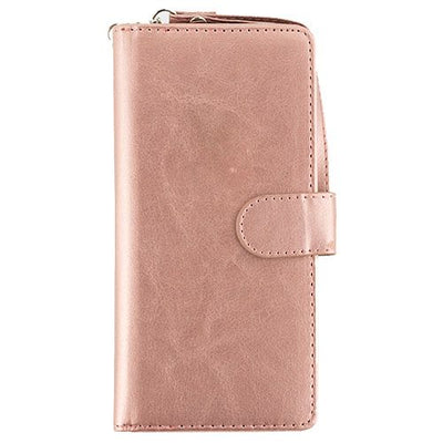 Detachable Rose Gold Wallet Detachable Samsung S9