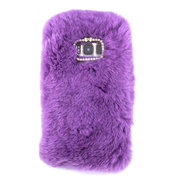 Fur Light Purple Case Samsung S8 - Bling Cases.com