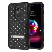 Hybrid Bling Black Case LG K30 - Bling Cases.com