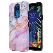 Marble Hybrid Purple Peach Case LG K40 - Bling Cases.com