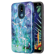 Marble Hybrid Purple Green Case LG K40 - Bling Cases.com