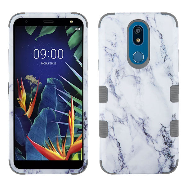 Marble Hybrid White Grey Case LG K40 - Bling Cases.com