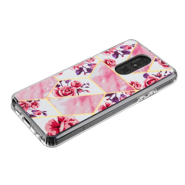 Pink Flowers Squares For Stylo 5 - Bling Cases.com