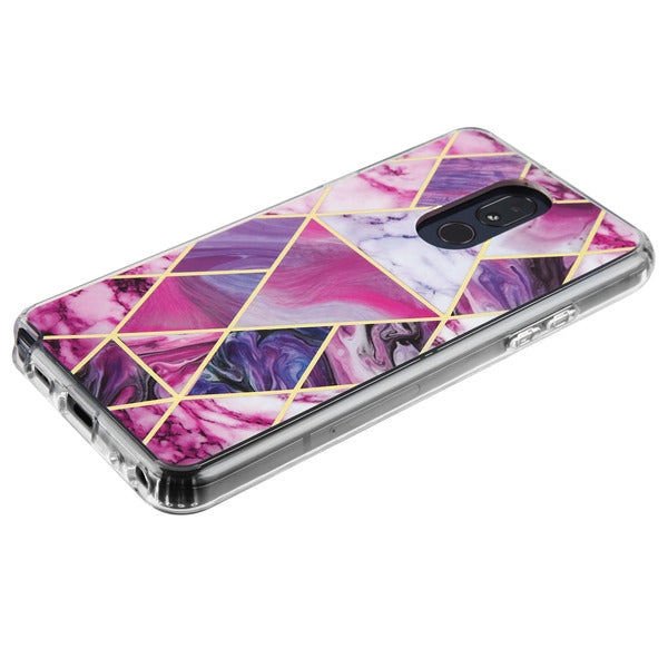 Purple Marble Triangle Stylo 5 - Bling Cases.com