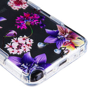 Purple Flowers Hybrid Stylo 5 - Bling Cases.com