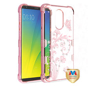 Lillie's Butterfly Bling Pink Case Lg Stylo 4 - Bling Cases.com