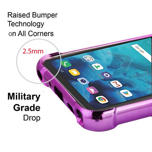 Flamingos Purple Clear Case Lg Stylo 4 - Bling Cases.com