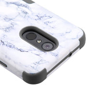 Marble Hybrid White Grey Case Lg Stylo 4 - Bling Cases.com