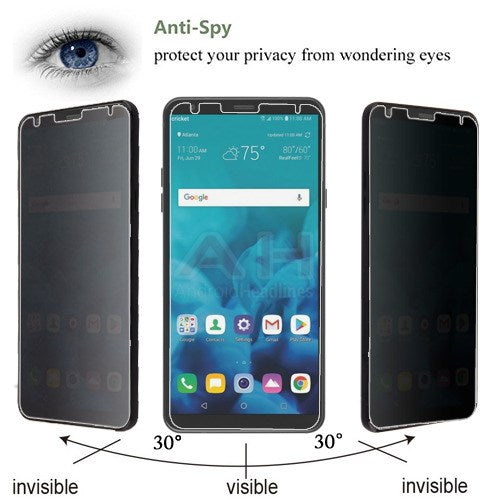 Lot of 2 Tempered Glass Privacy Lg Stylo 4 - Bling Cases.com