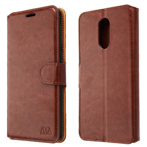 Brown Wallet Lg Stylo 4 - Bling Cases.com
