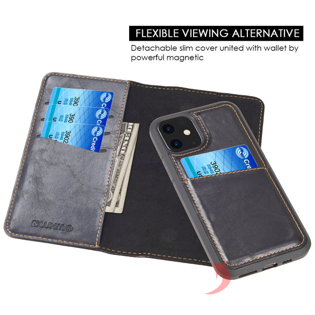 Detachable Wallet Black Iphone 11 - Bling Cases.com