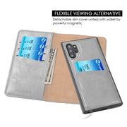 Detachable Wallet Grey Note 10 Plus - Bling Cases.com