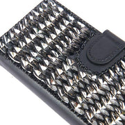 Handmade Detachable Bling Black Wallet Note 10 Plus