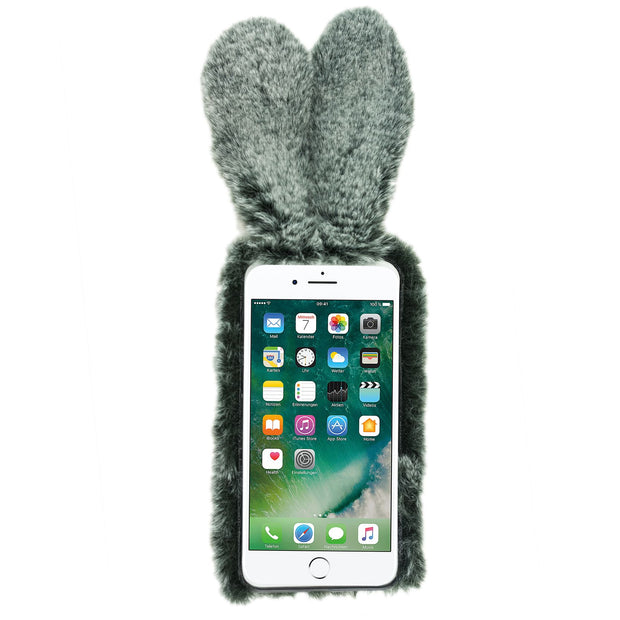 Bunny Fur Grey Case Iphone 7/8 Plus - Bling Cases.com