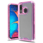 Hybrid Clear Pink Case Samsung A20/A50 - Bling Cases.com