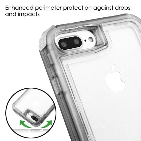 Hybrid Clear Smoke Case Iphone 6/7/8 Plus - Bling Cases.com