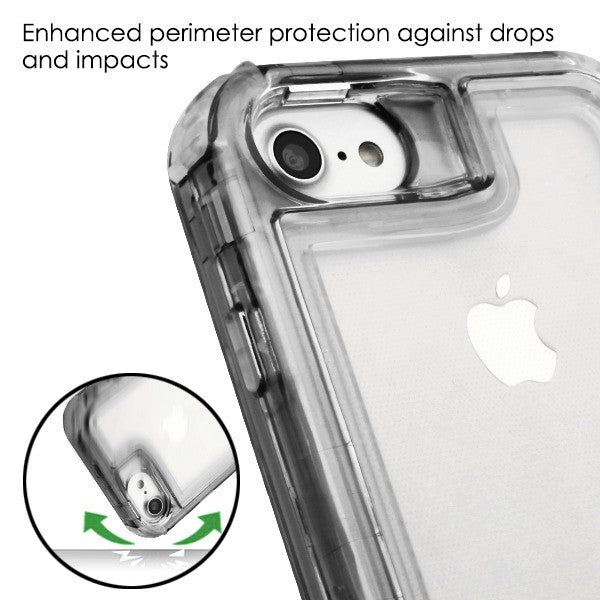 Hybrid Clear Smoke Case Iphone SE 2020 - Bling Cases.com