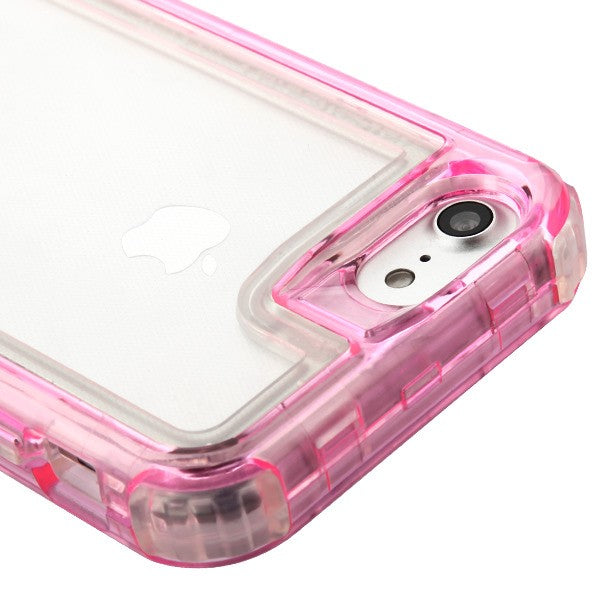 Hybrid Clear Pink Case Iphone SE 2020 - Bling Cases.com