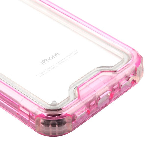 Hybrid Clear Pink Case Iphone 6/7/8 - Bling Cases.com