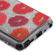 Red Lips Liquid Case Lg Stylo 4 - Bling Cases.com