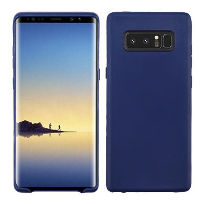 Soft Silicone Skin Dark Blue Samsung Note 8 - Bling Cases.com