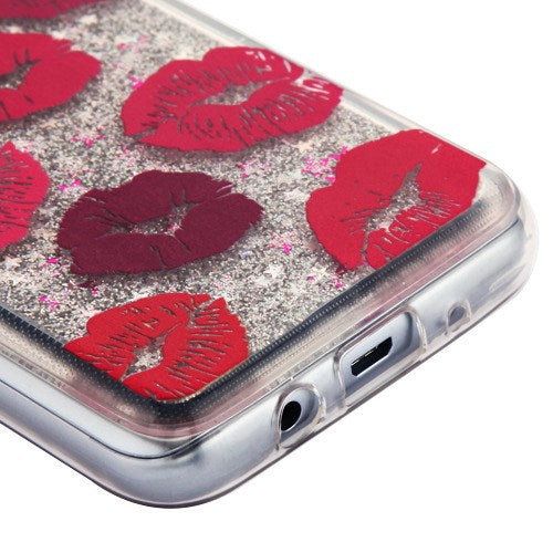 Lips Liquid Case J3 2018 - Bling Cases.com