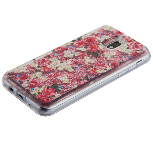 Flowers Liquid Case J3 2018 - Bling Cases.com