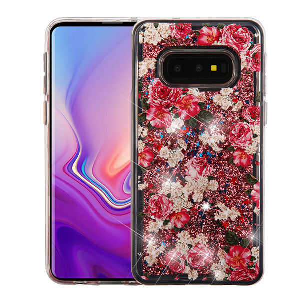 Liquid Flowers Samsung S10E - Bling Cases.com