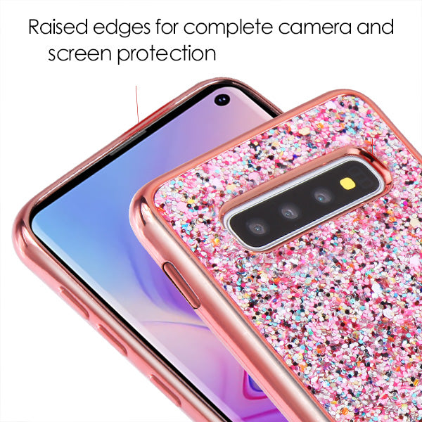 Bling Sequin Rose Gold Case Samsung S10 Plus - Bling Cases.com