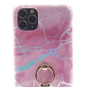 Marble Pink Ring Holder Case Iphone 11 Pro