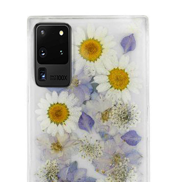 Real Flowers Purple Case Samsung S20 Ultra