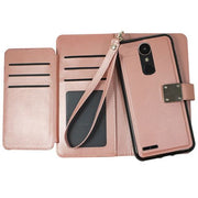 Detachable Wallet Rose Gold LG K30 - Bling Cases.com