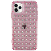Studded Bling Pink Clear Skin Iphone 12 Pro