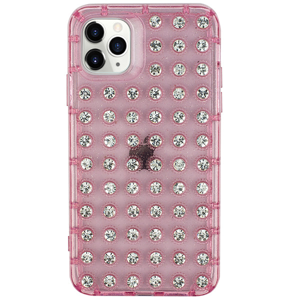 Studded Bling Pink Clear Skin Iphone 11 Pro