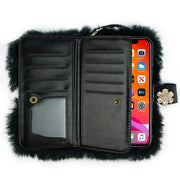 Fur Grey Detachable Wallet IPhone 12 Pro Max