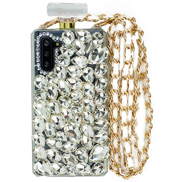 Handmade Silver Fox Bling Bottle Samsung Note 10 Plus