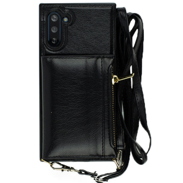 Crossbody Pouch Black Case Samsung Note 10 Plus