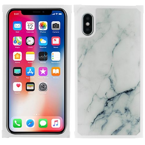 Marble Square White Iphone 10/X/XS - Bling Cases.com