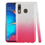Glitter Pink Silver Case Samsung A20/50 - Bling Cases.com