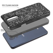 Hybrid Bling Grey Stylo 5 - Bling Cases.com