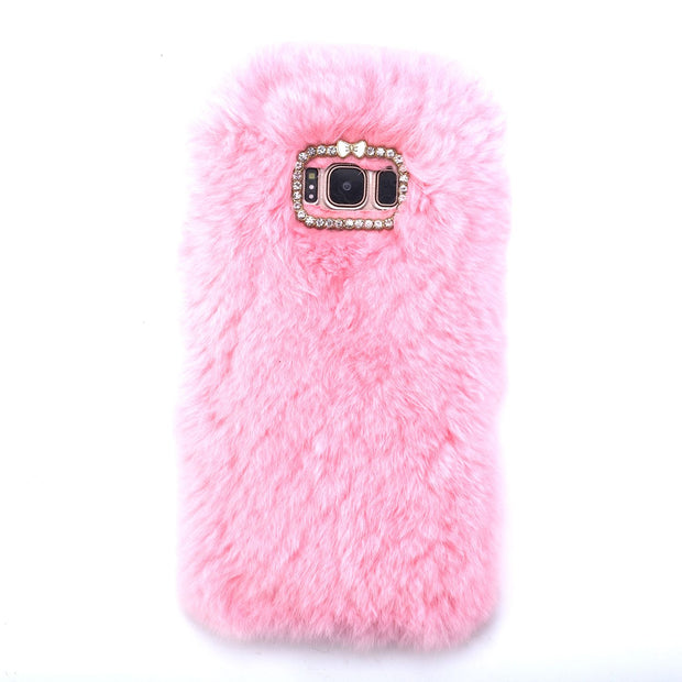 Fur Light Pink Case Samsung S8 Plus - Bling Cases.com