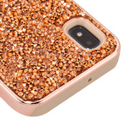 Hybrid Bling Rose Gold Samsung A10E - Bling Cases.com
