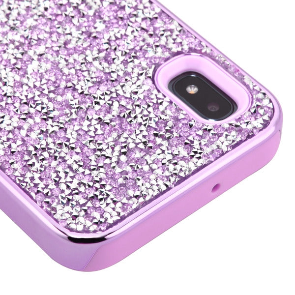 Hybrid Bling Case Purple Samsung A10E - Bling Cases.com