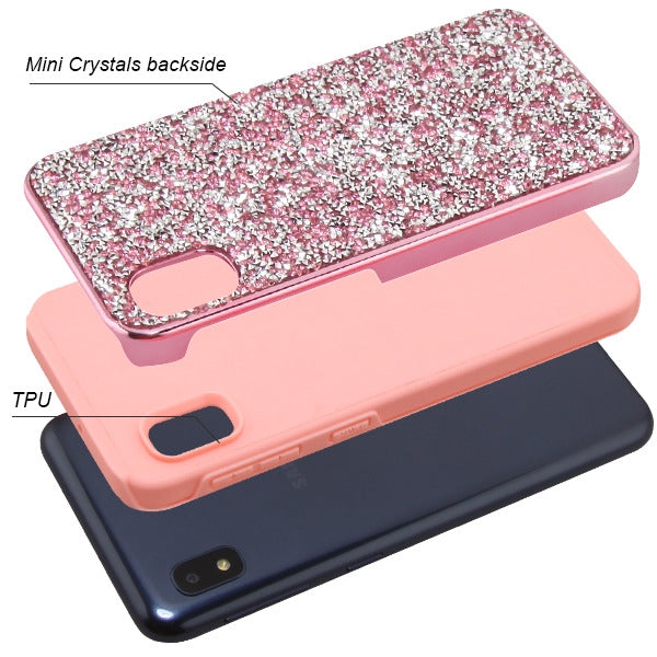 Hybrid Bling Case Pink Samsung A10E - Bling Cases.com