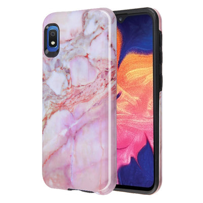 Marble Hybrid Purple Peach Case Samsung A10E - Bling Cases.com