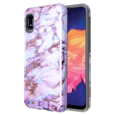 Marble Purple Grey Case Samsung A10E - Bling Cases.com