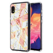 Marble Pink White Case Samsung A10E - Bling Cases.com