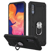 Hybrid Ring Case Black Samsung A10E - Bling Cases.com