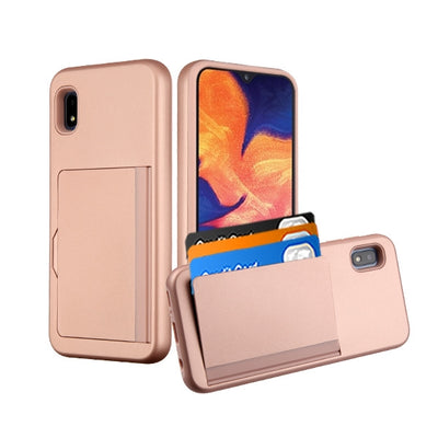 Back Card Case Rose Gold Samsung A10E - Bling Cases.com