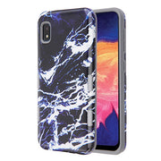Marble Black Blue Case Samsung A10E - Bling Cases.com